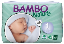Bambo Nature 1 New born, 28ks, pro 2-4 kg
